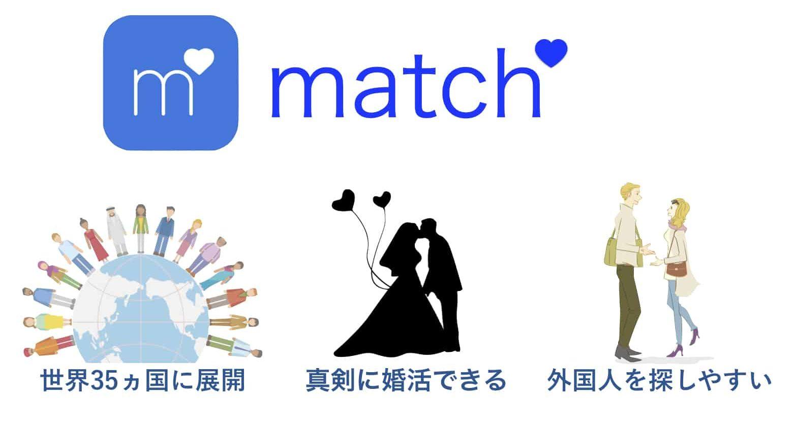 matchの3つのおすすめポイント