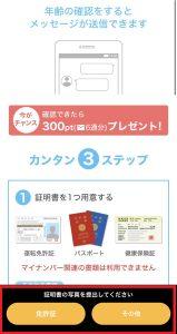 YYC年齢確認の手順(アプリ版)③